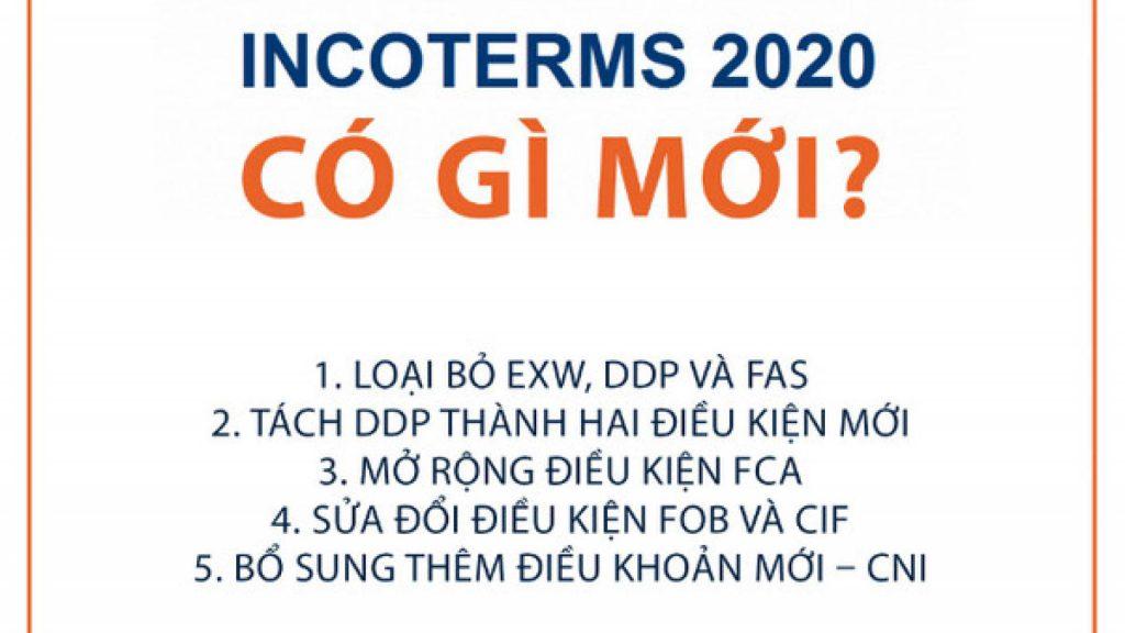 Những điểm thay đổi chính trong Incoterms 2020
